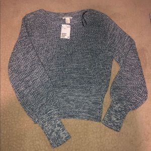 H&M Blue And White Knit Sweater!